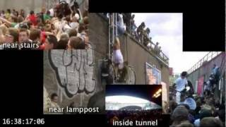 Love Parade Duisburg, july 24, Multiperspective-video