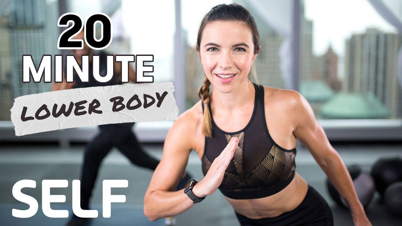 20-Minute HIIT Lower-Body Bodyweight Workout With Tabata Finisher - With Warm-Up & Cool-Down | SELF