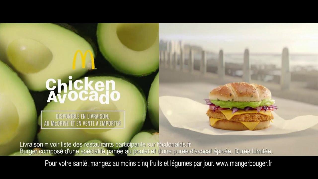 """Musique de la pub Chicken Avocado Mc Donald's """"une nouvelle recette inédite à l'avocat"""" Pub 45s Mai 2021"""