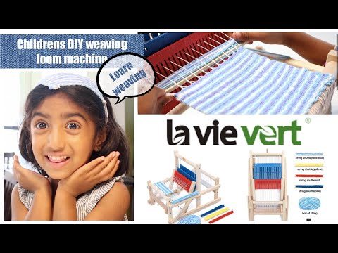 Lavievert Wooden Multi-Craft Weaving Loom | DIY Hand-Knitting Weaving Machine | Craft Toys For Kids