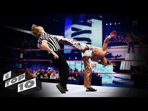 Thumbnail: Referees Get Wrecked: WWE Top 10