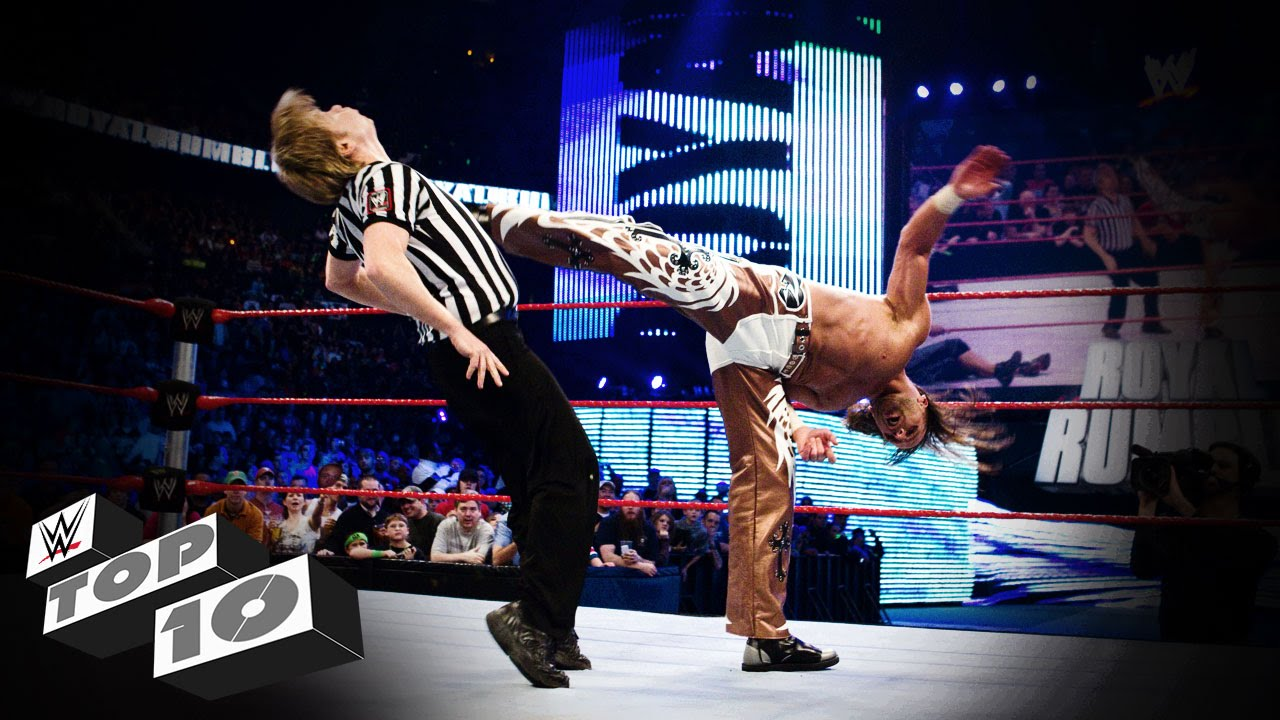 What Are Wwe Chairs Made Of Black Chair Covers Rental Referees Get Wrecked Top 10 Youtube