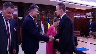 8/30/17 Intrevedere vicepremier Marcel Ciolacu cu ministrul de externe al Ungariei Péter Szijjártó