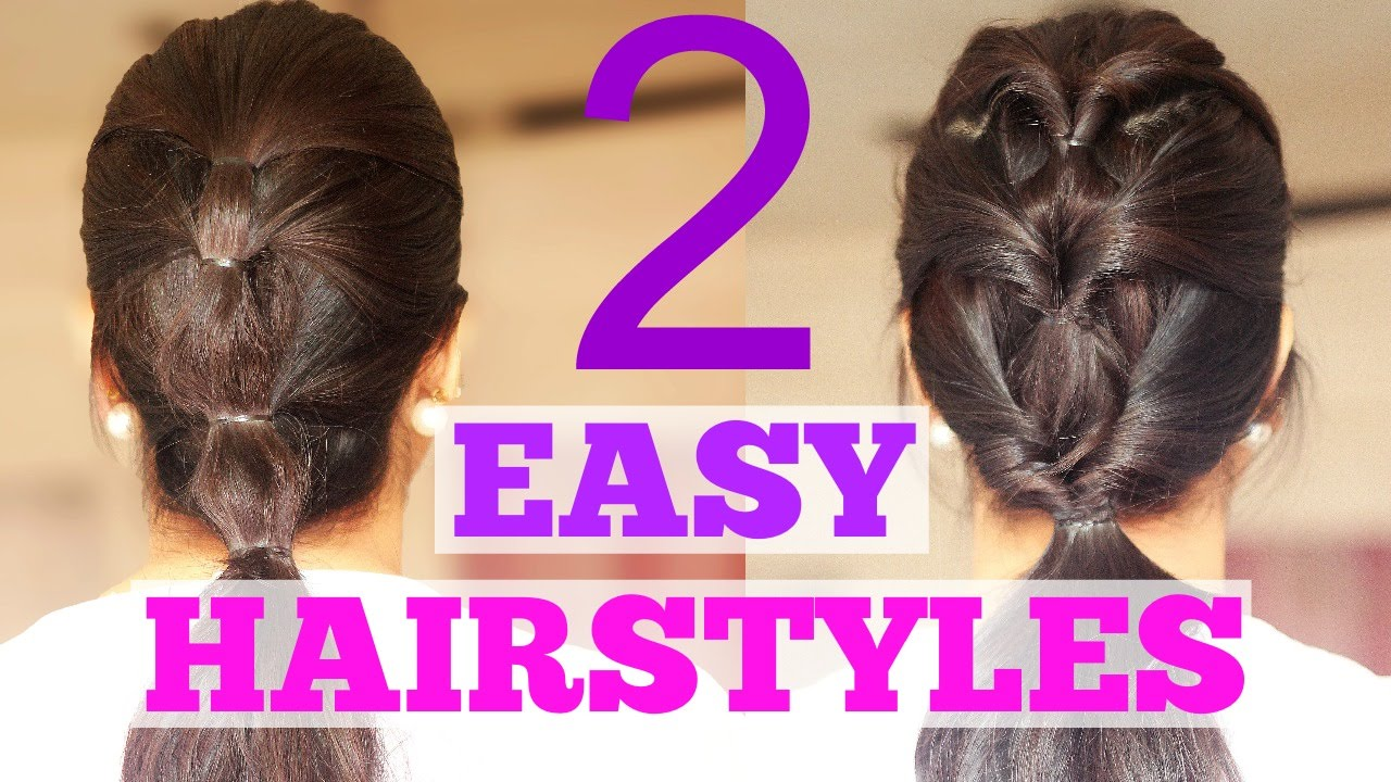 2 Quick Hairstyles For Work College School Or The Gym YouTube