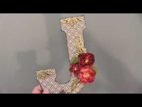 Paper Mache & Chipboard Letters - Paper Wishes Weekly Webisodes