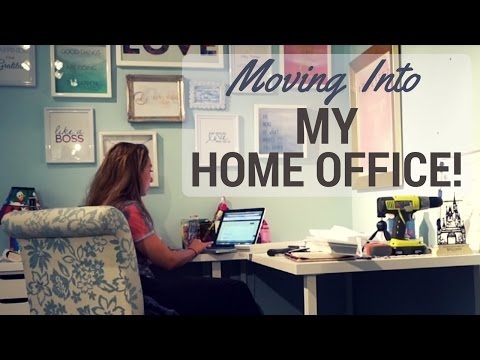 Working From Home – Moving Into My Home Office – Vlog