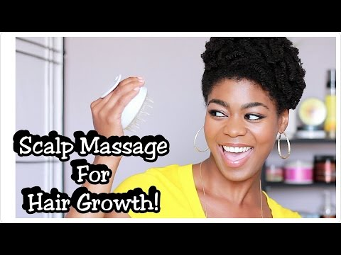 Massage For Hair Growth & Healthy Scalp! - Vitagoods Shampoo Brush Review + Demo - 4C Natural Hair