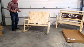 Mountain Sky Furniture Adirondack Rocking Chair Or Bench Assembly Part B