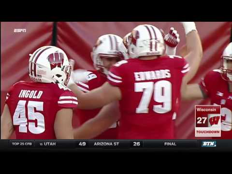 Illinois at Wisconsin - Football Highlights