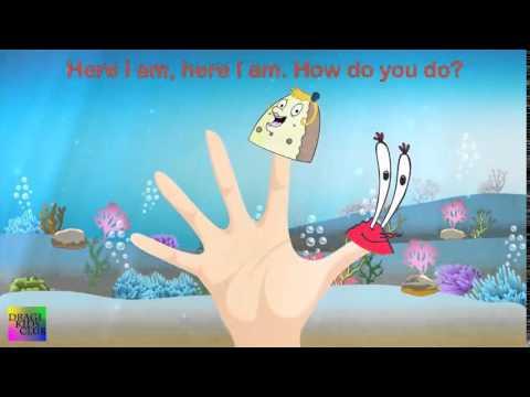 Finger Family SpongeBob SquarePants Cartoon | Nursery Rhymes for Children | Spongebob Song