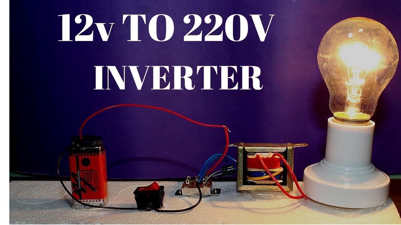 how to make powerful 12v to 220v inverter without transistor 12v to 220v inverter [ 1280 x 720 Pixel ]