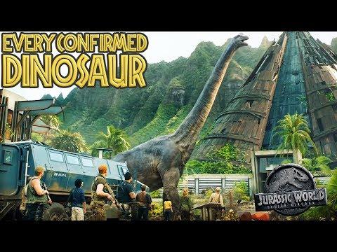 Every CONFIRMED DINOSAUR In Jurassic World: Fallen Kingdom (Including MOSASAURUS)