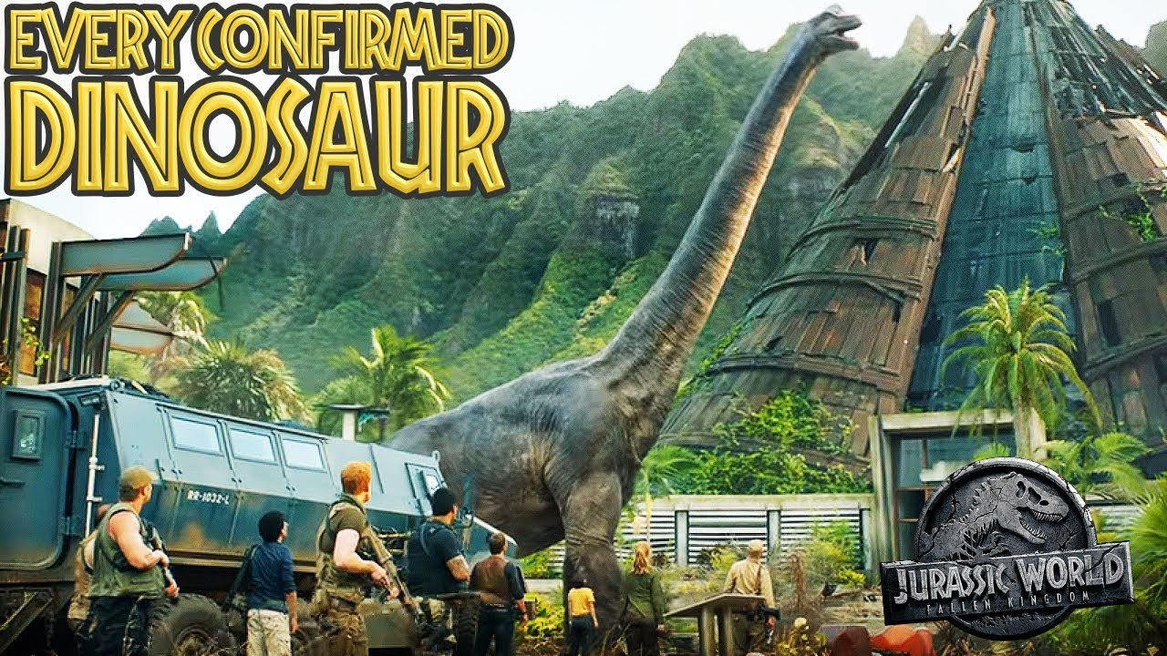 Every CONFIRMED DINOSAUR In Jurassic World: Fallen Kingdom (Including  MOSASAURUS)