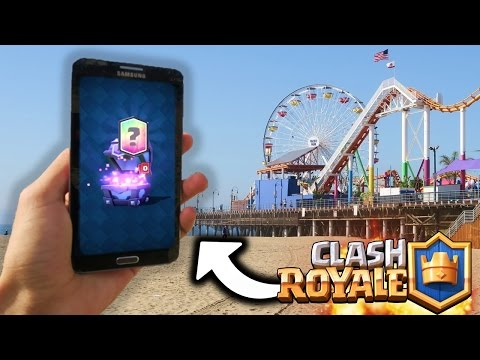 Thumbnail: ¡ABRO COFRES EN LA PLAYA en Los Angeles! - CLASH ROYALE [ANTRAX] ☣
