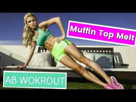 Muffin Top Melt Workout! AB Workout - No More Muffin Top   Rebecca Louise