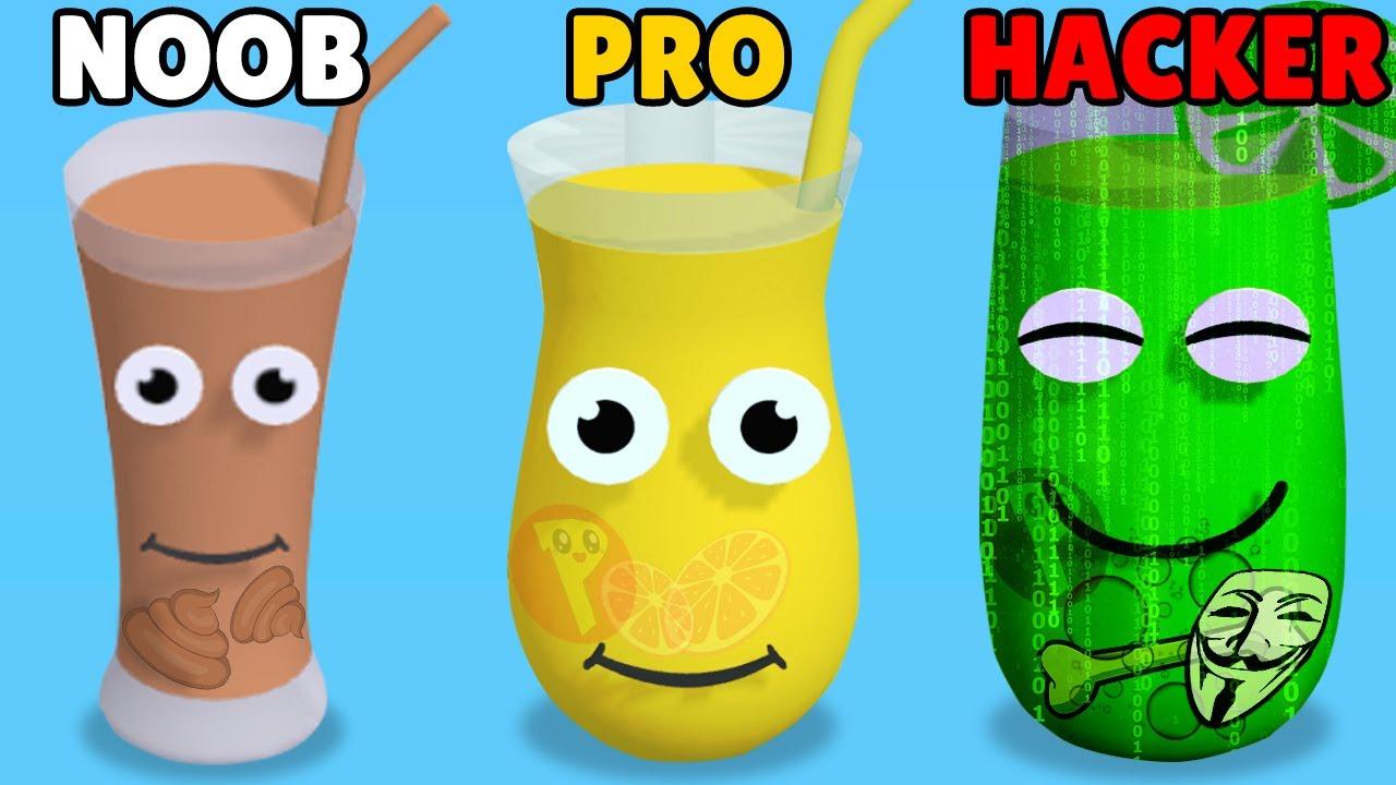 NOOB vs PRO vs HACKER in Juice Run