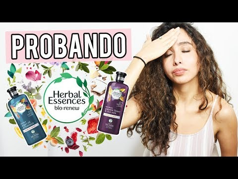 PROBANDO HERBAL ESSENCES BIO RENEW EN CABELLO RIZADO 🌸 RESEÑA SHAMPOO HERBAL ESSENCSES