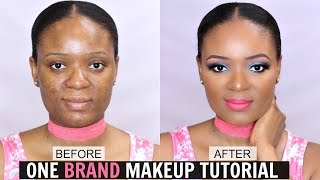 FIRST IMPRESSION : ONE BRAND MAKEUP TUTORIAL FT L.A GIRL COSMETICS | OMABELLETV