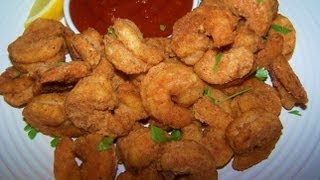 Oven Fried Popcorn Shrimp - Gluten Free