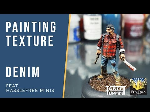 Painting Texture - Denim - THE EPIC HOBBY tutorial