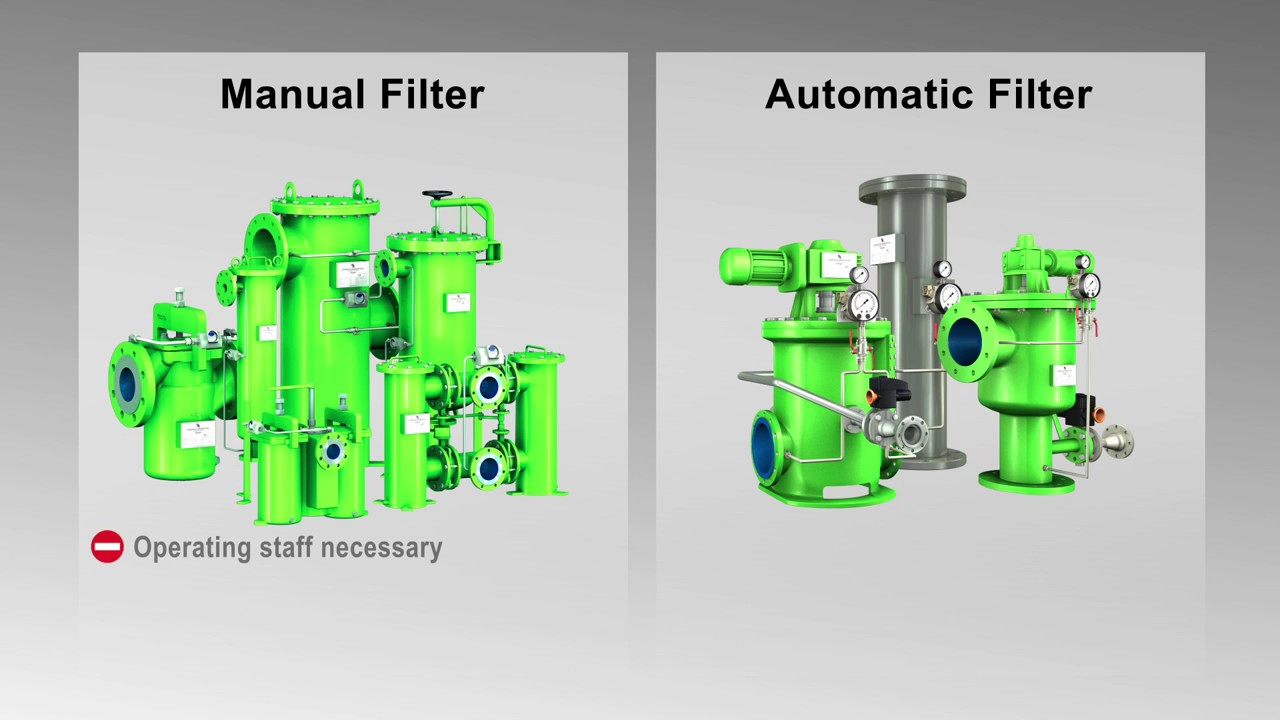 Comparison between Automatic self cleaning backwash filters and Manual  filters