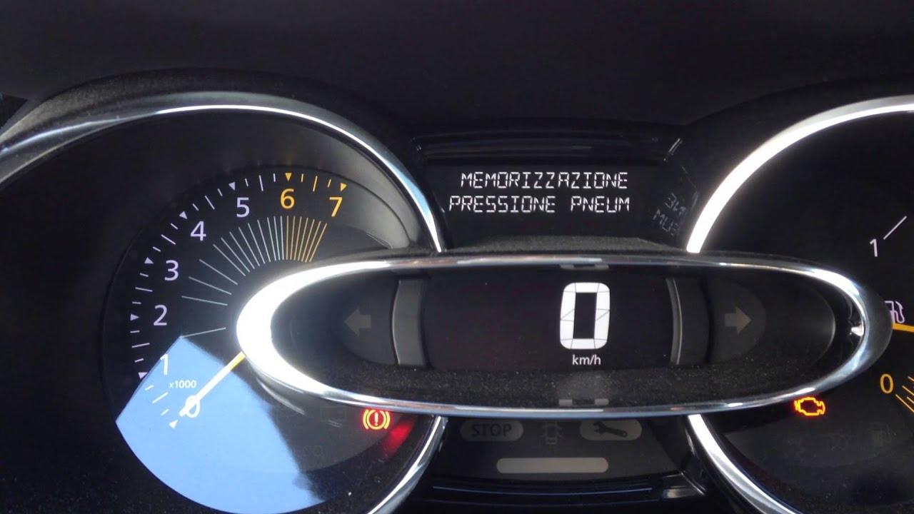 Renault Clio - Reset Tire Pressure Pneumatici TPMS