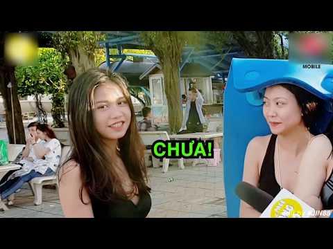 Gái Xinh Có Tè Ở Bể Bơi Không  I Phỏng Vấn Troll Giới Trẻ 2018 I Jin88 I Tập 12