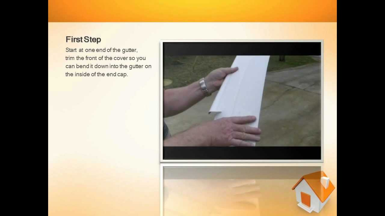 Gutter Guards Step By Step Installation Instructions