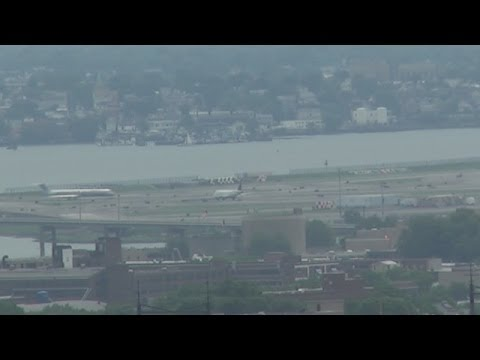 LaGuardia Airport and RFK Bridge - Distant Views From Manhattan