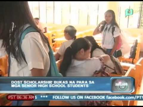 DOST scholarship, bukas na para sa senior high school students