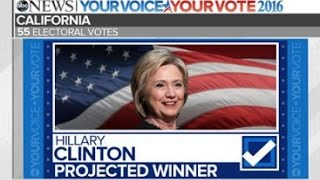 Clinton Projected to Win California and Hawaii, Trump Idaho | Election 2016