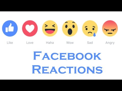 Facebook's  Reactions Buttons Now Available Globally. Choose  Like, Love, Haha, Wow, Sad or Angry