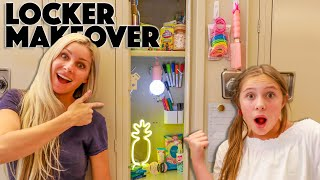 LOCKER TOUR! The COOLEST LOCKER MAKEOVER from my MOM!!