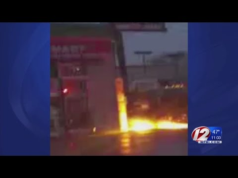 Weather sparks power line fire
