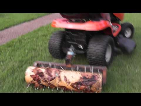 Home Made Aerator Pulled Behind Lawn Tractor