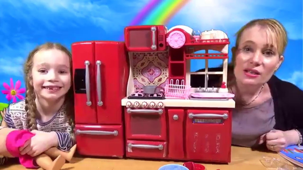 our generation - gourmet kitchen set unboxing - youtube