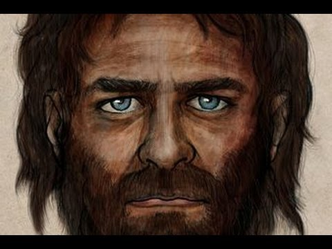 Old Caveman Show : Face of 7 000 year old caveman revealed dark colour with blue eye