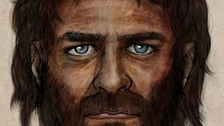 Face of 7,000-Year-Old Caveman Revealed, Dark Colour with Blue Eye