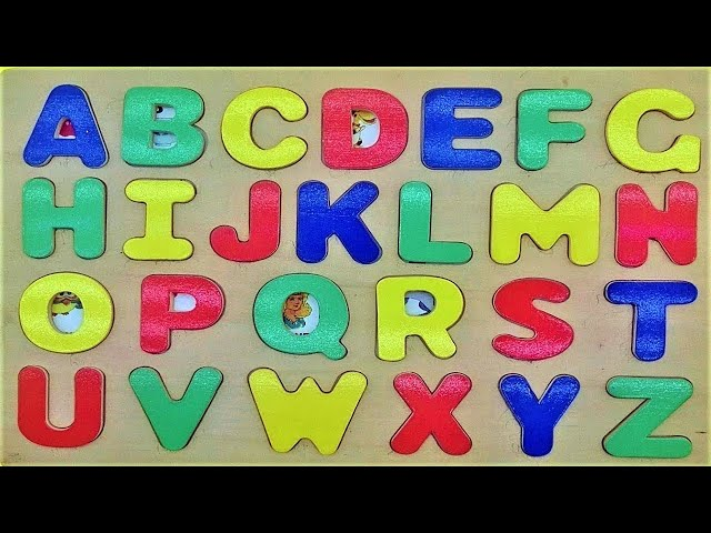 Learning Alphabet with wood Toys for kids - Teaching ABC for Preschool Children