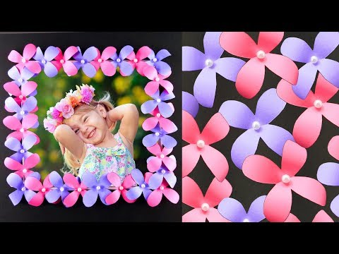DIY Photo Frame with Paper Flowers - Easy and Simple Paper Crafts Tutorial