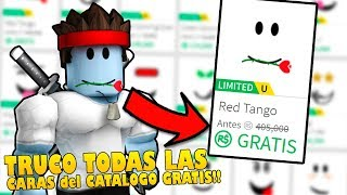 How TO HAVE ALL FREE CATALOG FACES WITHOUT ROBUX!! Roblox