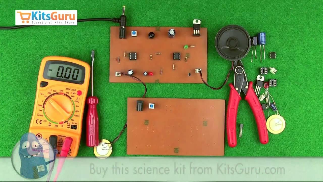 Piezo Electric Heat Sensor By Kitsgurucom Lgkt109 Youtube Circuit Buzzer Explained Electronic