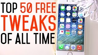Top 50 FREE iOS 8 Cydia Tweaks Of ALL Time - 8.1.2 & 8.1.1 TaiG Jailbreak Compatible