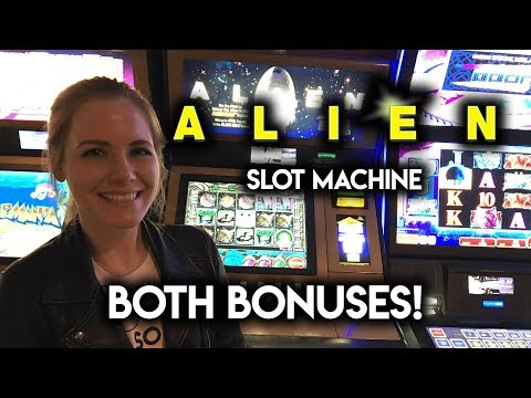 ALIEN! Slot Machine! BOTH BONUSES!!!
