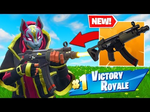 *NEW* SUBMACHINE GUN GAMEPLAY In Fortnite Battle Royale!
