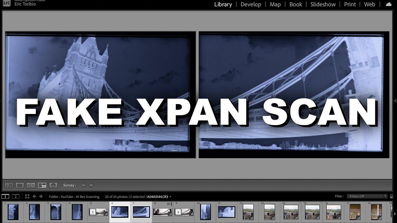 Panorama Scanning XPAN style negatives from the Lomo Sprocket Rocket