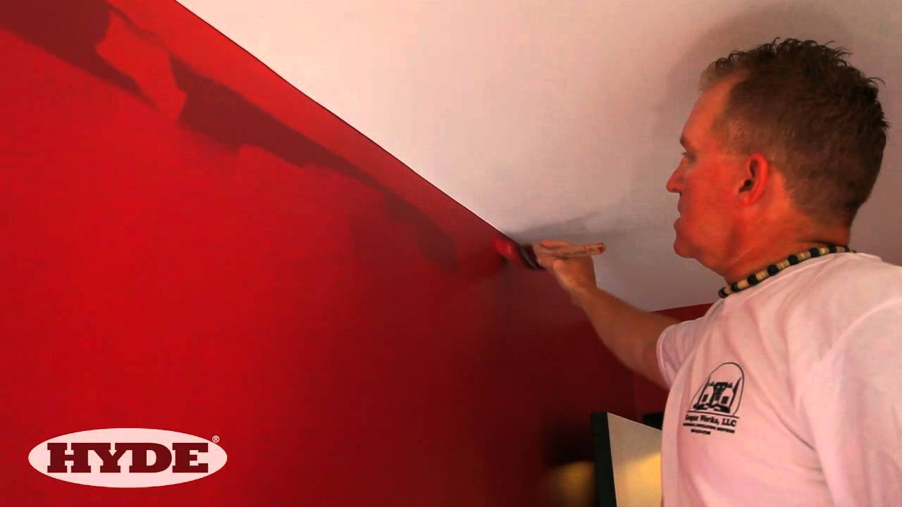 Painting Wall Method - How to paint next to a ceiling and get clean edges