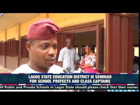 LAGOS STATE EDUCATION DISTRICT 3 SEMINAR FOR PREFECTS & CLASS CAPTAIN