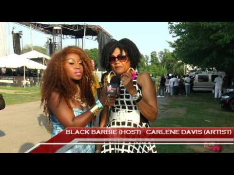 Carlene Davis interview at Grace Jamaican Jerk festival NYC