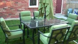 Deluxe 8 Piece Patio Set And Umbrella